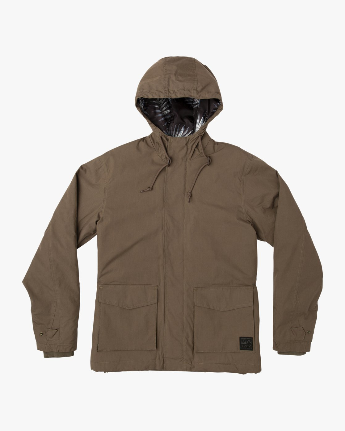 0 Puffer Parka Jacket Beige M705QRPU RVCA