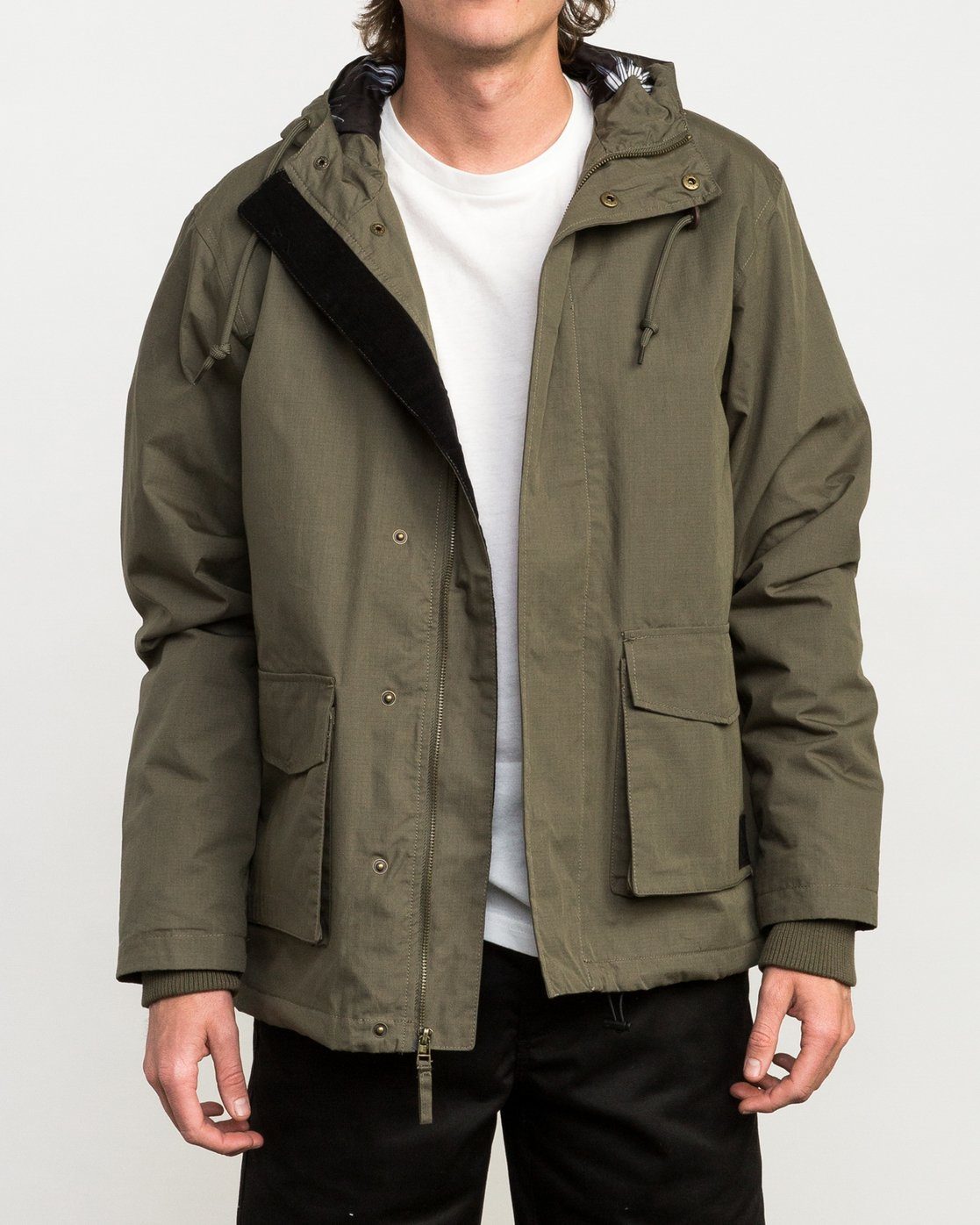 1 Puffer Parka Jacket Green M705QRPU RVCA