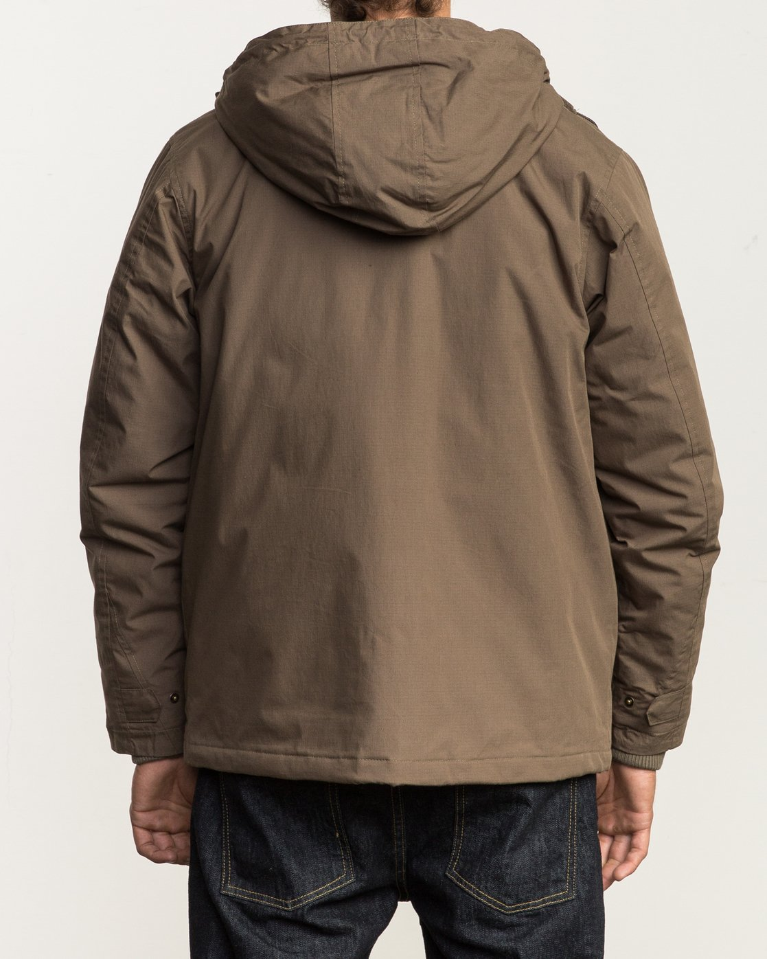 4 Puffer Parka Jacket Beige M705QRPU RVCA