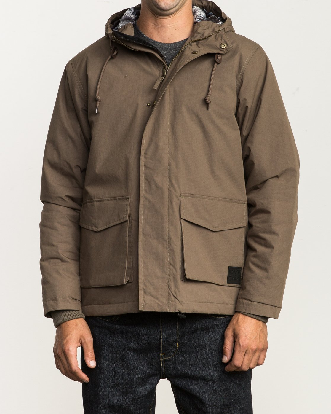 2 Puffer Parka Jacket Beige M705QRPU RVCA