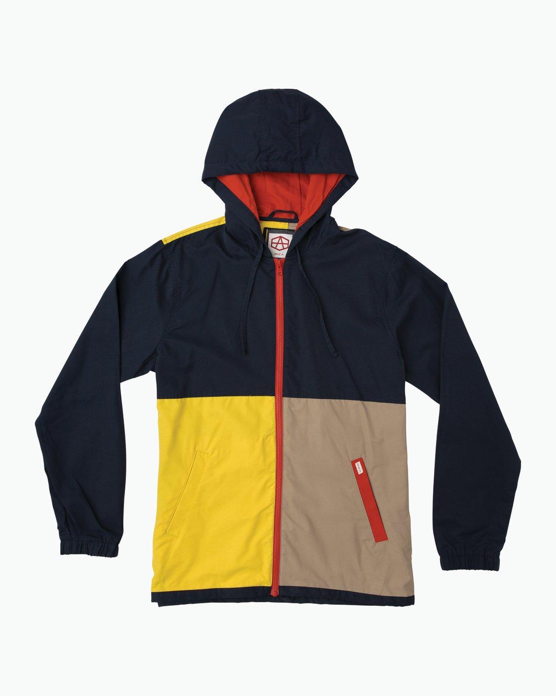 0 Andrew Reynolds Bloc Coaches Jacket Blue M705SRBL RVCA