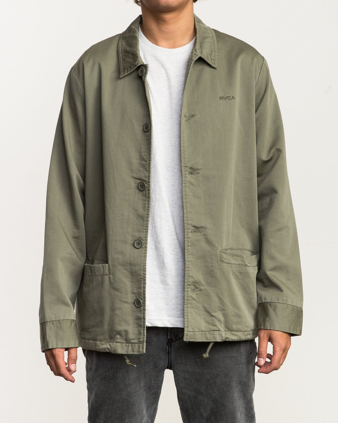 2 Alex Matus Button-Up Jacket Green M705SRMA RVCA
