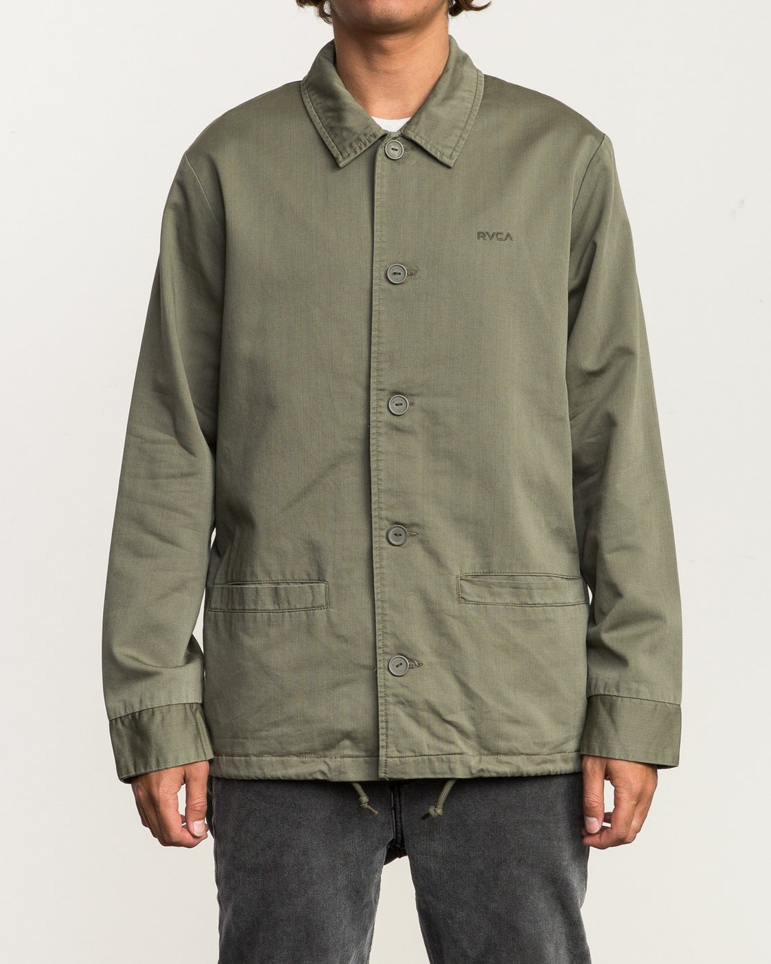 3 Alex Matus Button-Up Jacket Green M705SRMA RVCA
