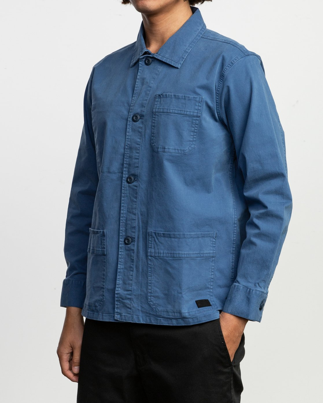 2 Couleur Chore Coat Shirt Blue M705TRCC RVCA