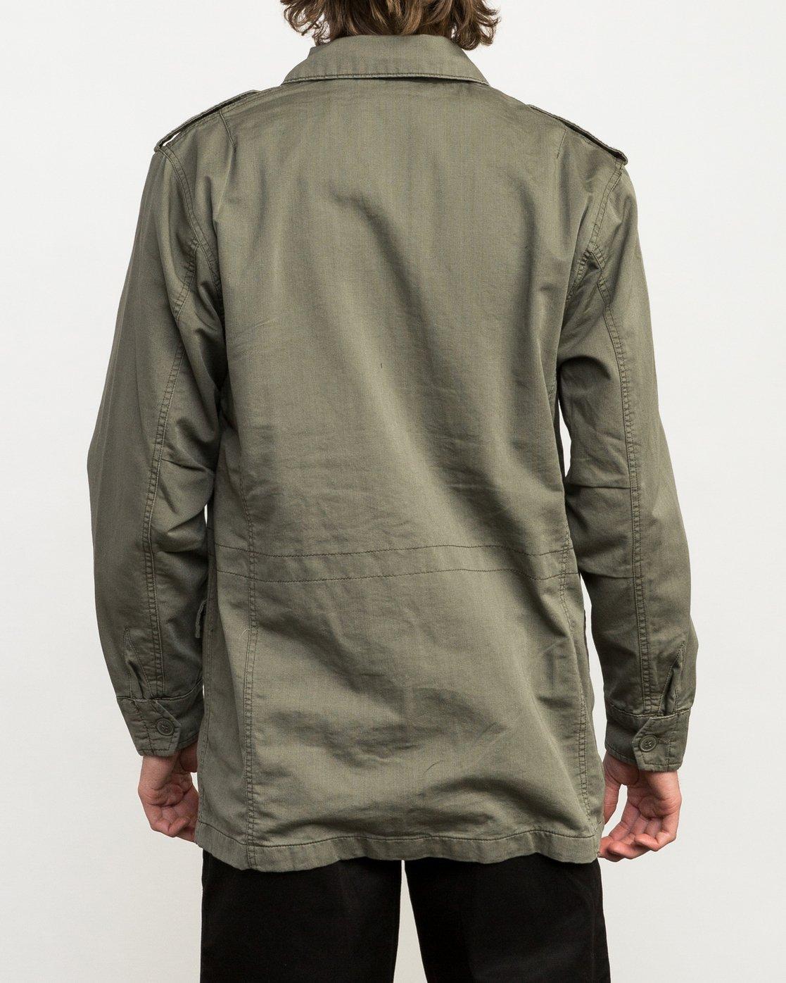 4 Andrew Reynolds M65 Canvas Jacket Green M706QRAR RVCA
