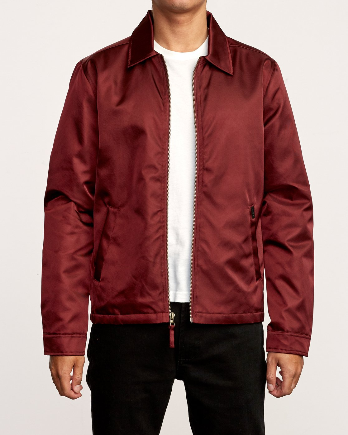 1 Supply Zip-Up Jacket Red M707VRSU RVCA
