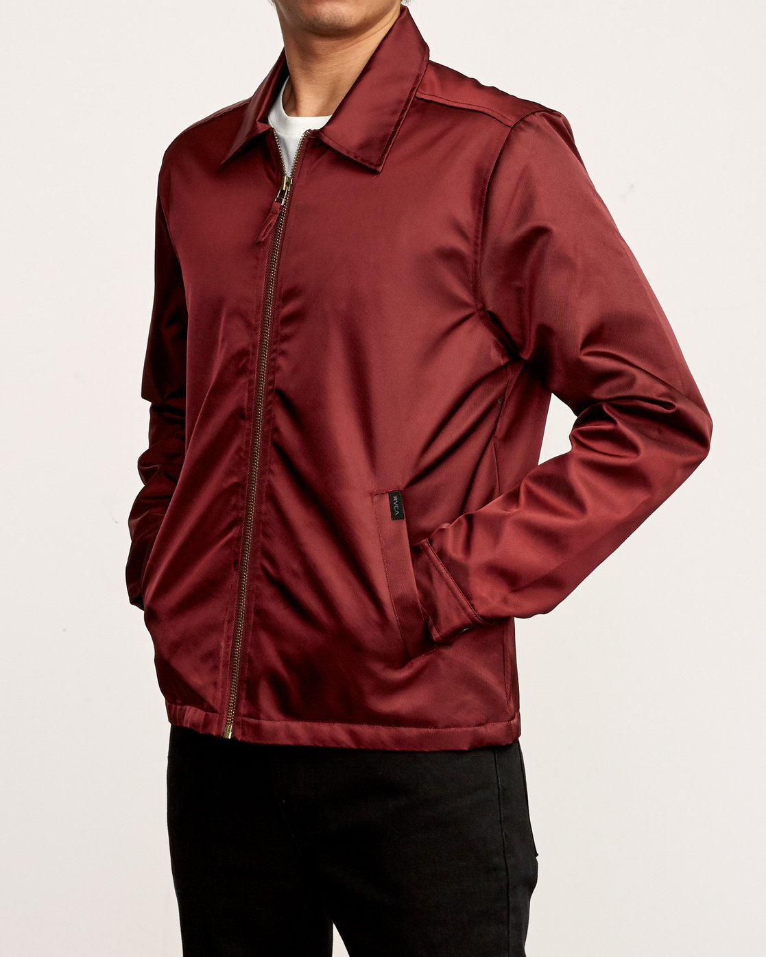 3 Supply Zip-Up Jacket Red M707VRSU RVCA