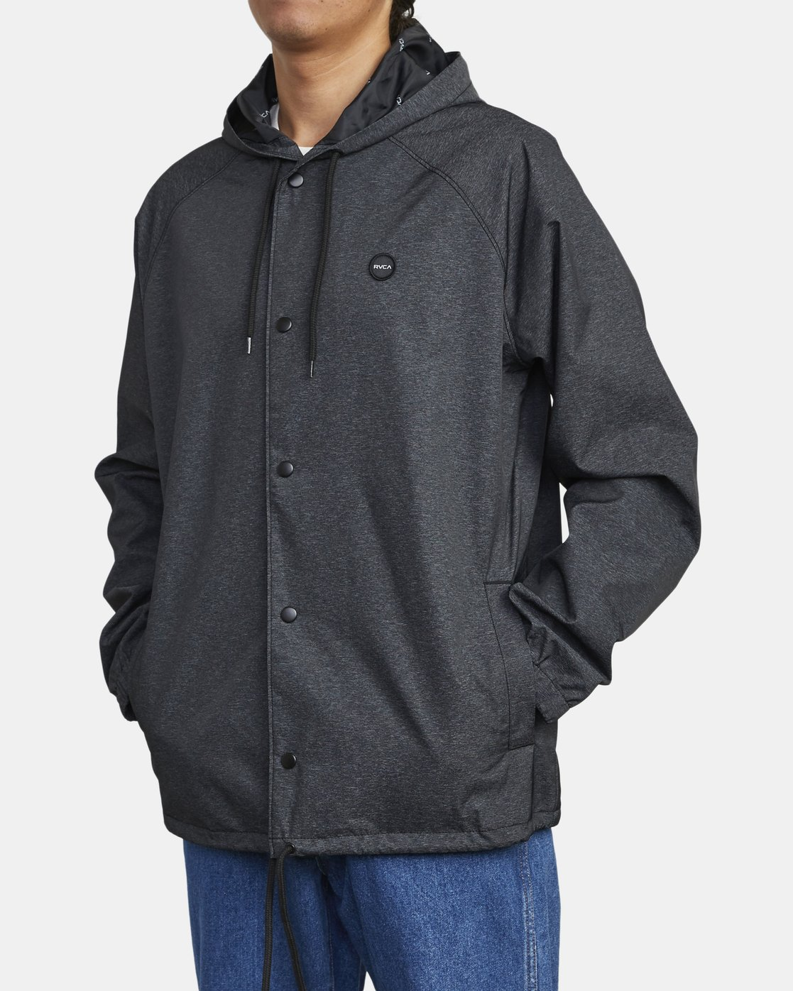 2 VA HOOD COACH II JACKET Brown M7083RVA RVCA