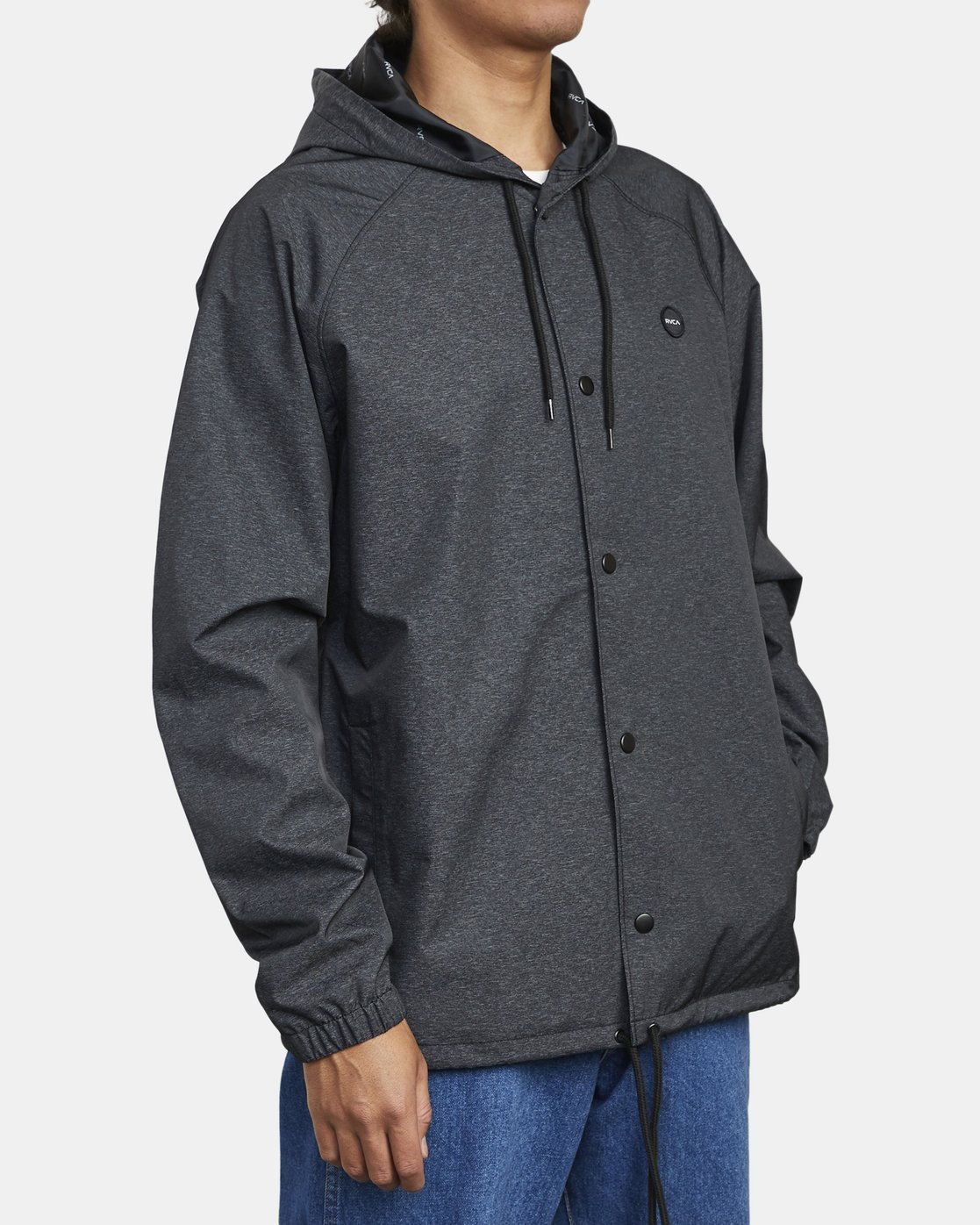 3 VA HOOD COACH II JACKET Brown M7083RVA RVCA