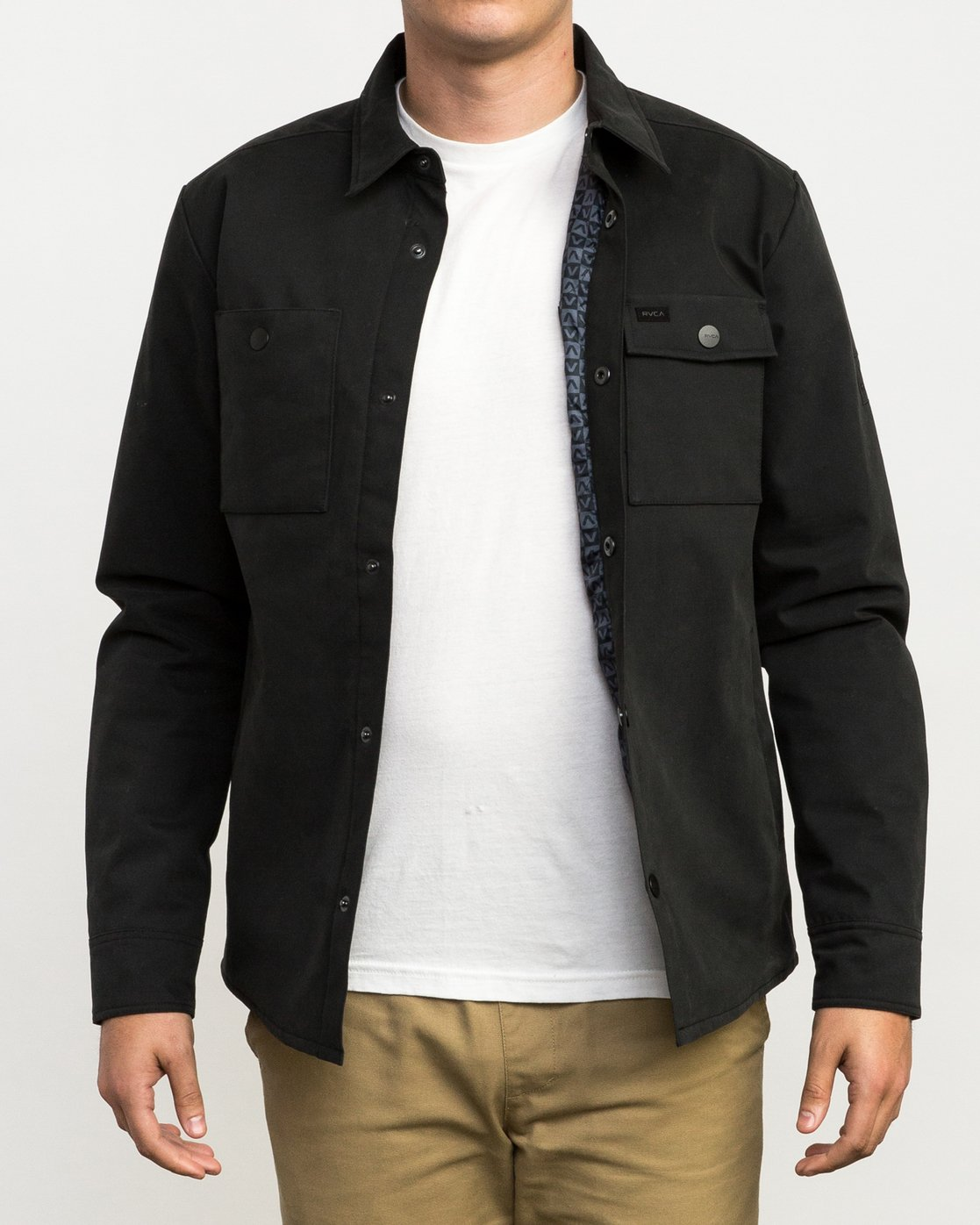1 Utility Shirt Jacket Black M708QRUS RVCA