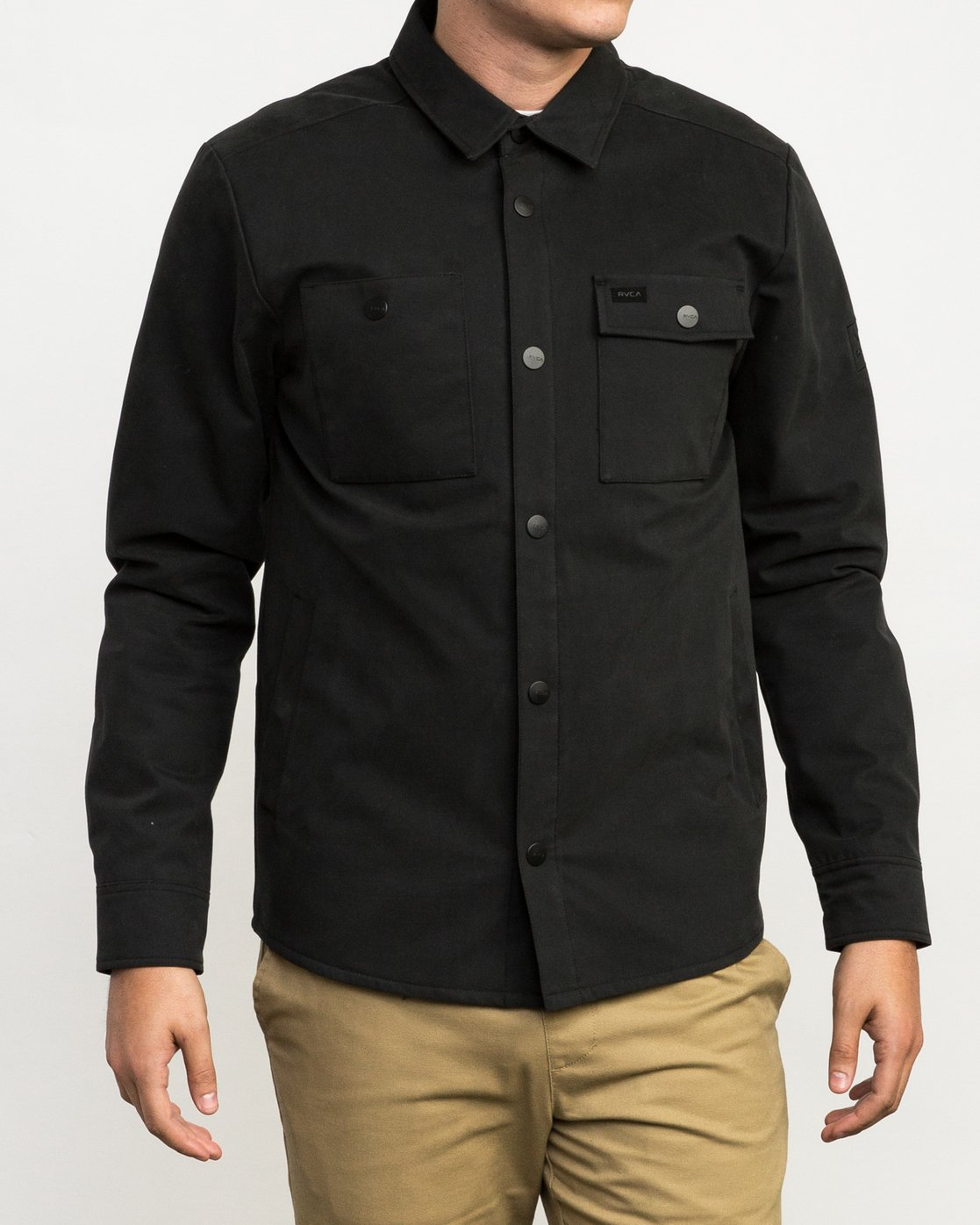 2 Utility Shirt Jacket Black M708QRUS RVCA