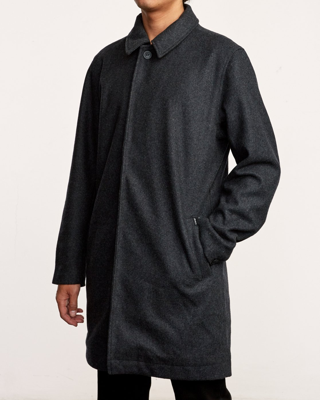 4 Mac Wool Coat Black M709VRMA RVCA