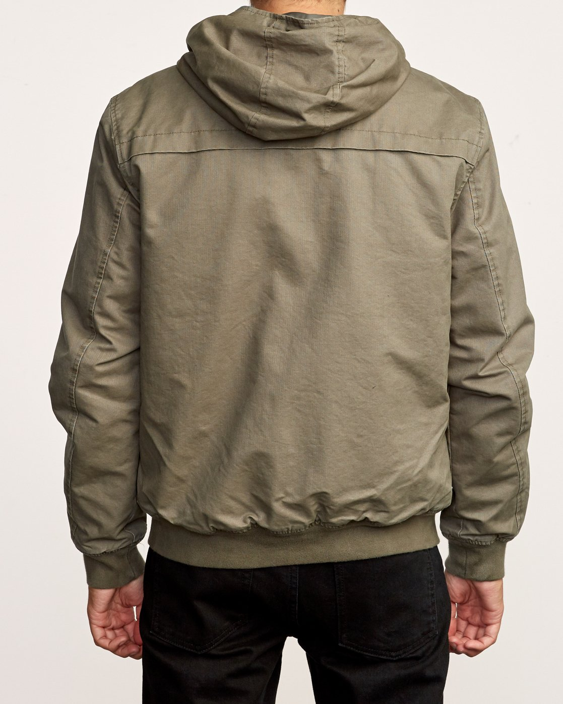 4 Hooded Bomber III Jacket Green M715VRHB RVCA