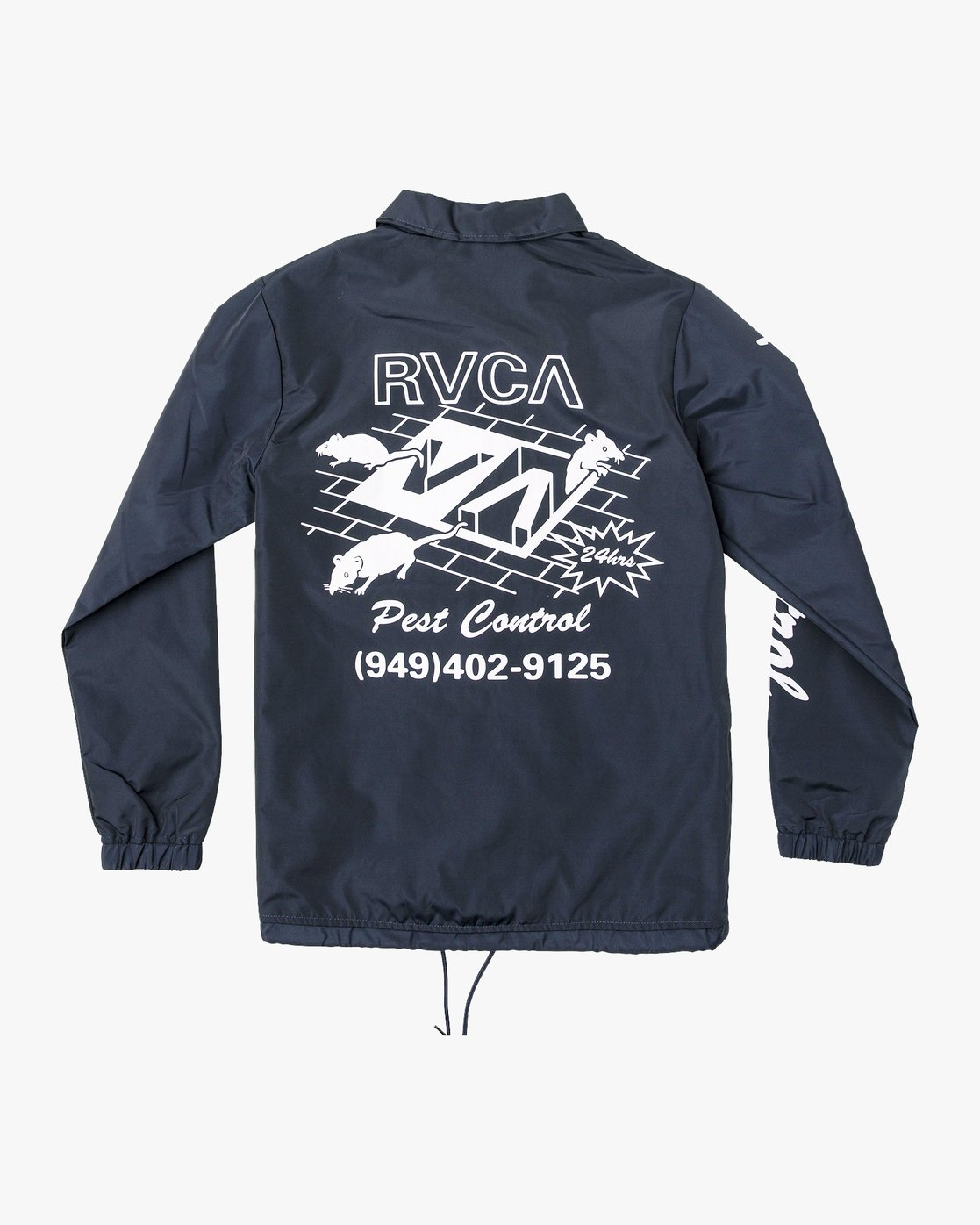 1 Berni Coaches Jacket Blue M721VRBE RVCA