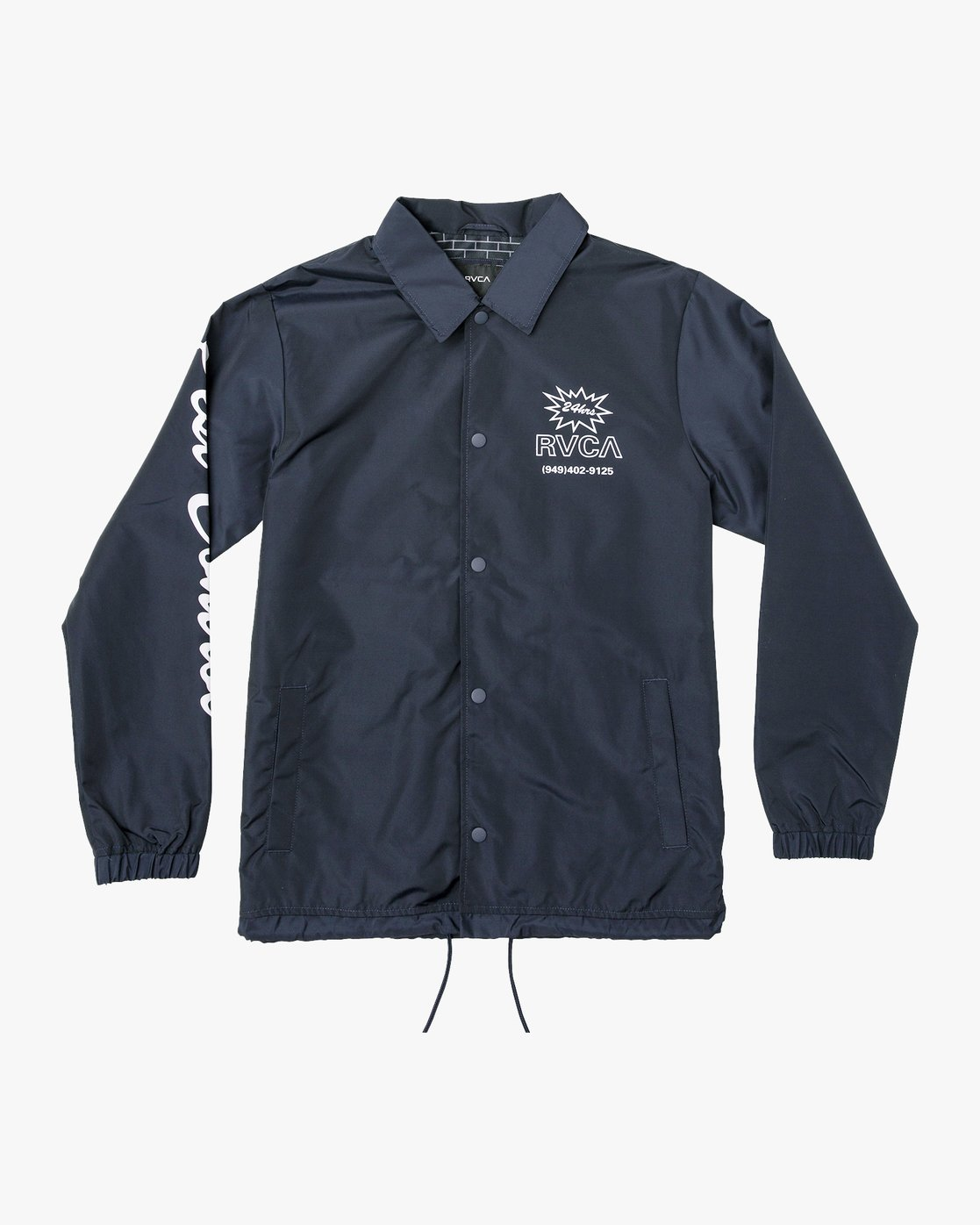 0 Berni Coaches Jacket Blue M721VRBE RVCA