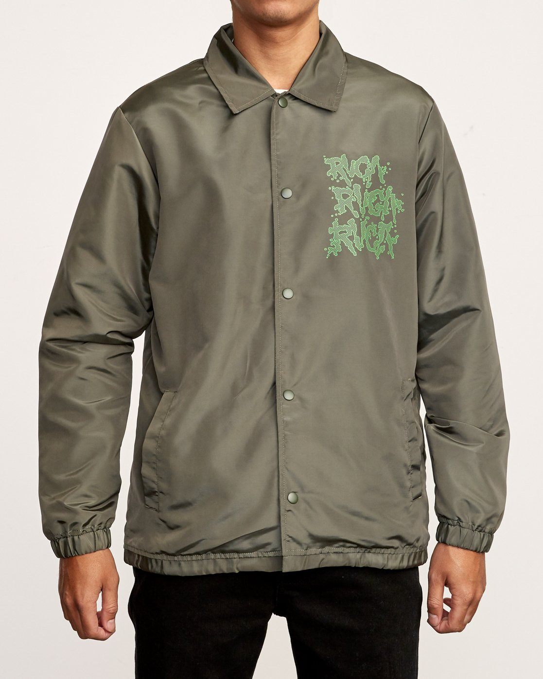 3 Berni Coaches Jacket Green M721VRBE RVCA