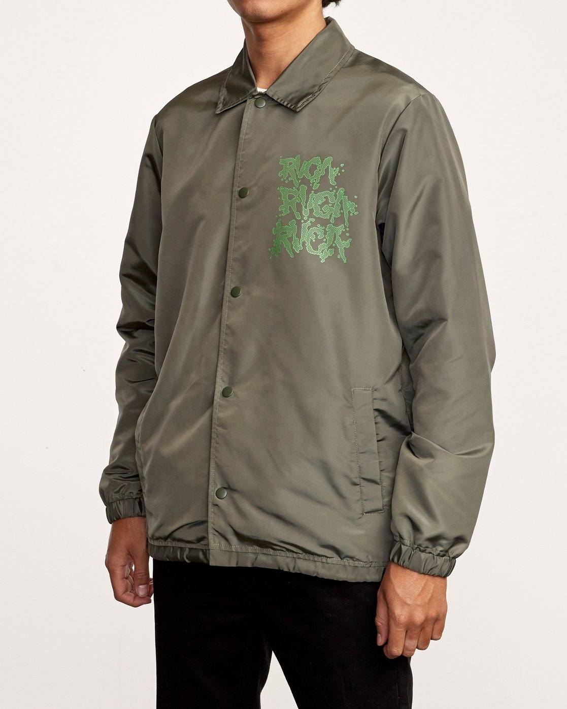 4 Berni Coaches Jacket Green M721VRBE RVCA