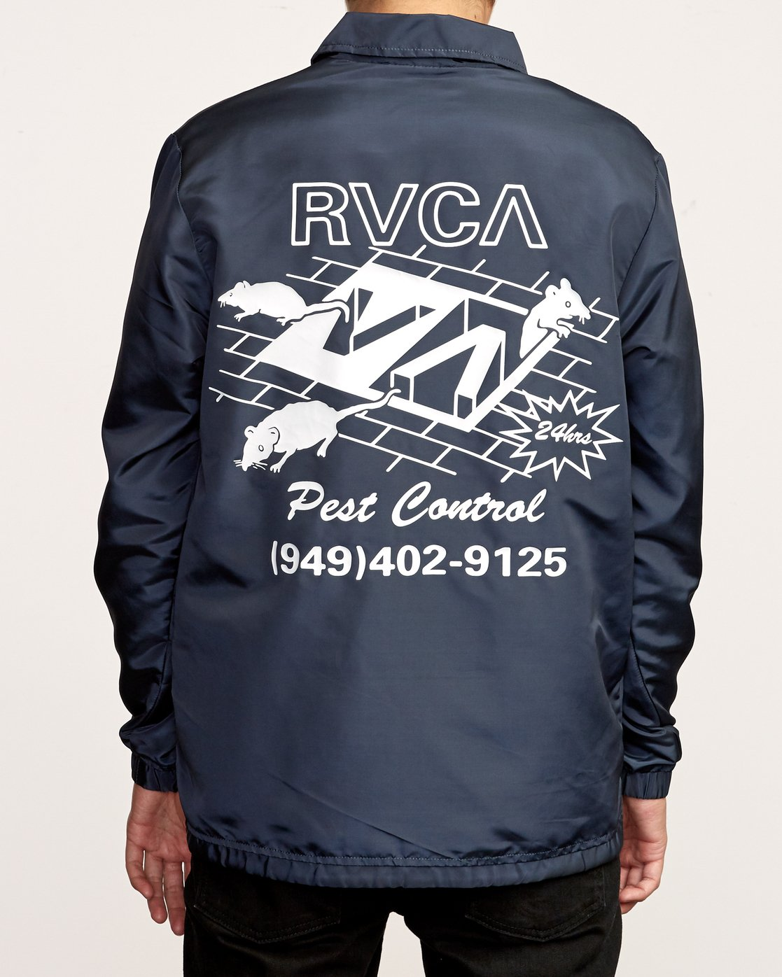5 Berni Coaches Jacket Blue M721VRBE RVCA