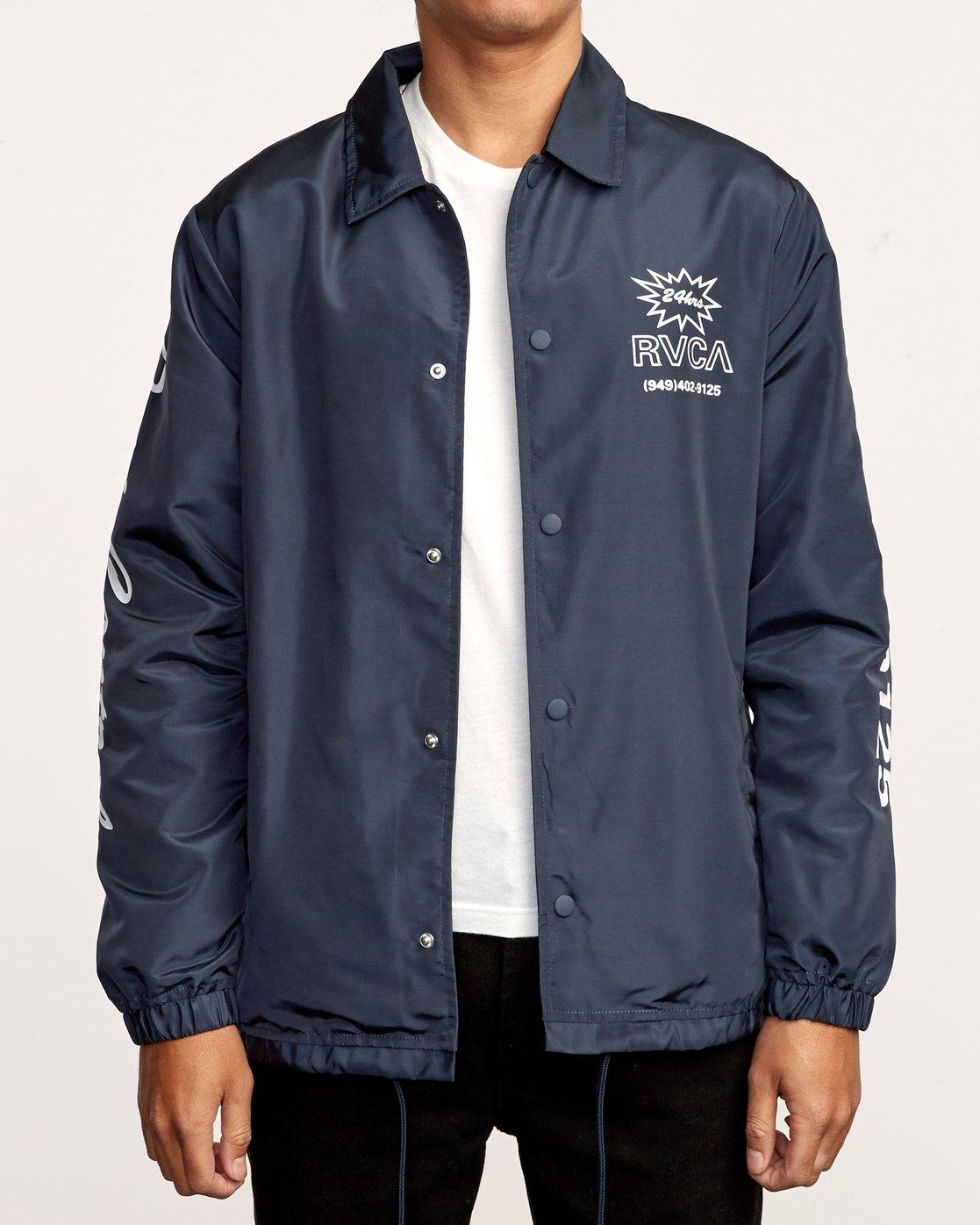 2 Berni Coaches Jacket Blue M721VRBE RVCA