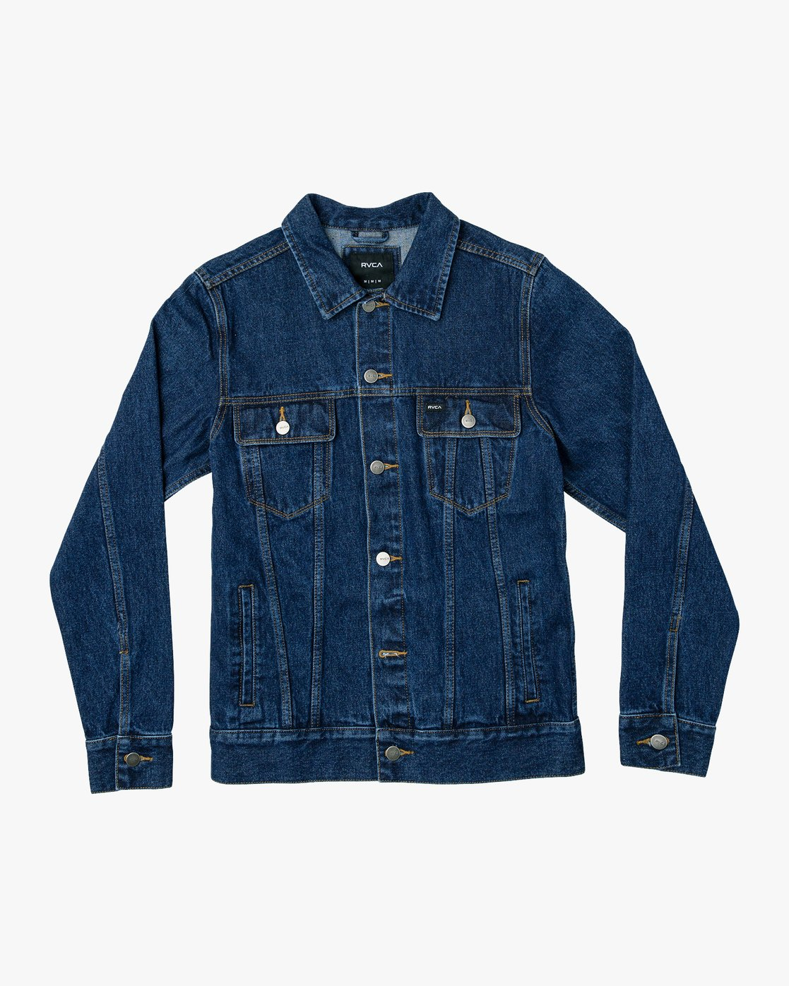 0 Daggers Denim Jacket Blue M725VRDA RVCA