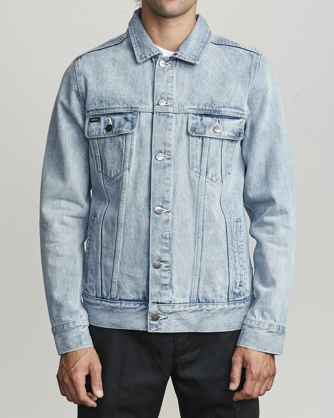 2 Daggers Denim Jacket White M725VRDA RVCA