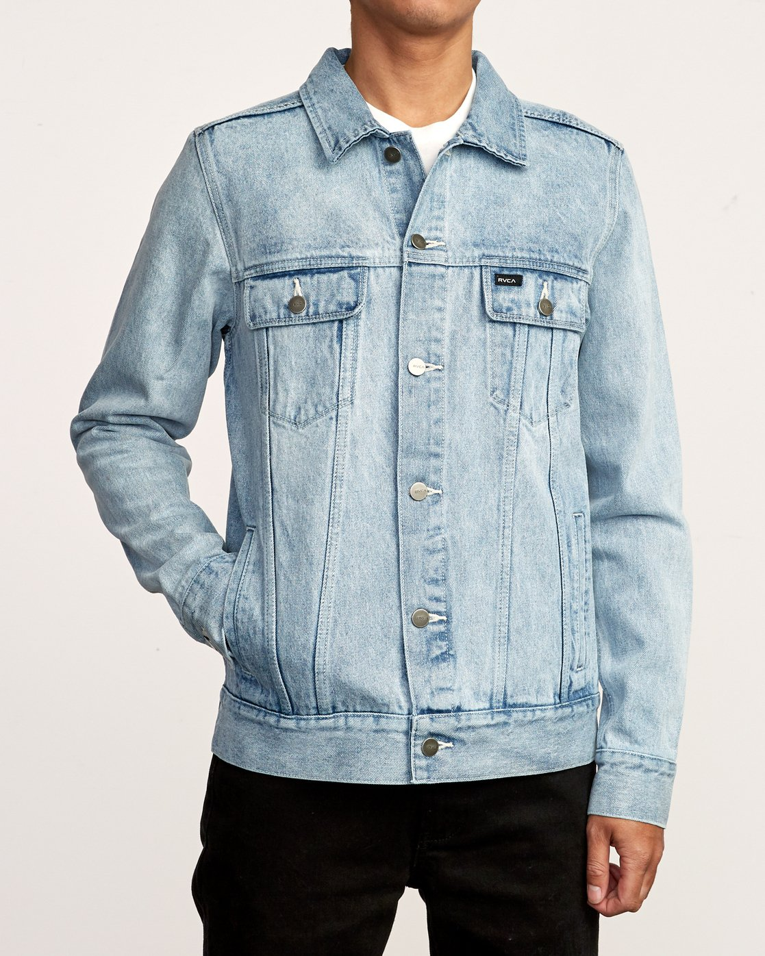 3 Daggers Denim Jacket White M725VRDA RVCA