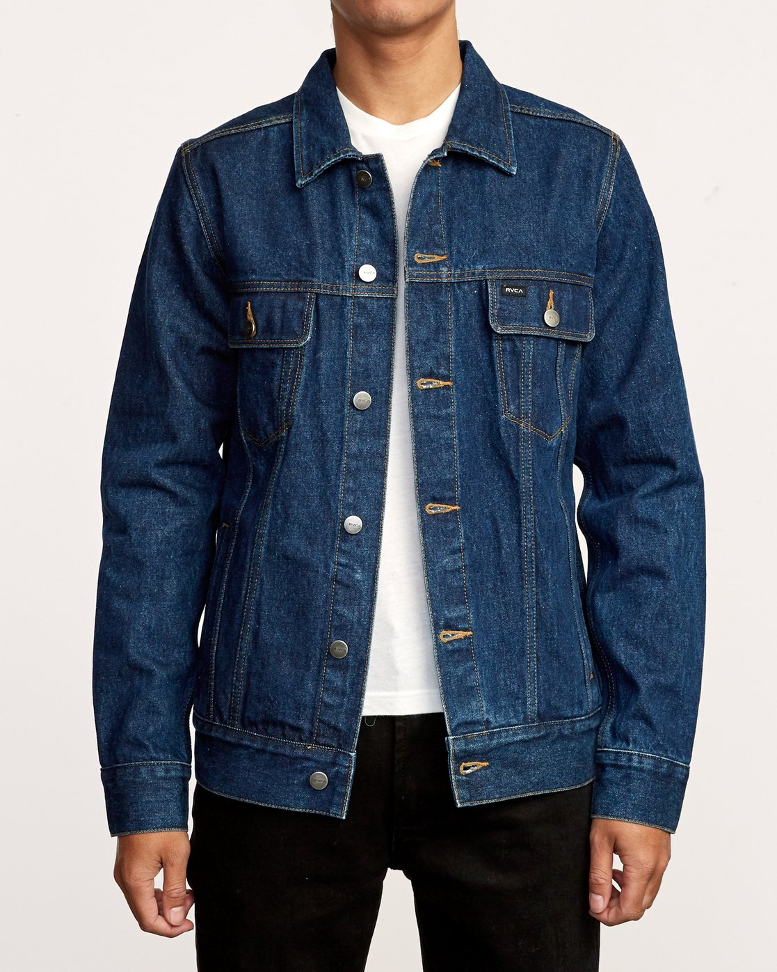 1 Daggers Denim Jacket Blue M725VRDA RVCA