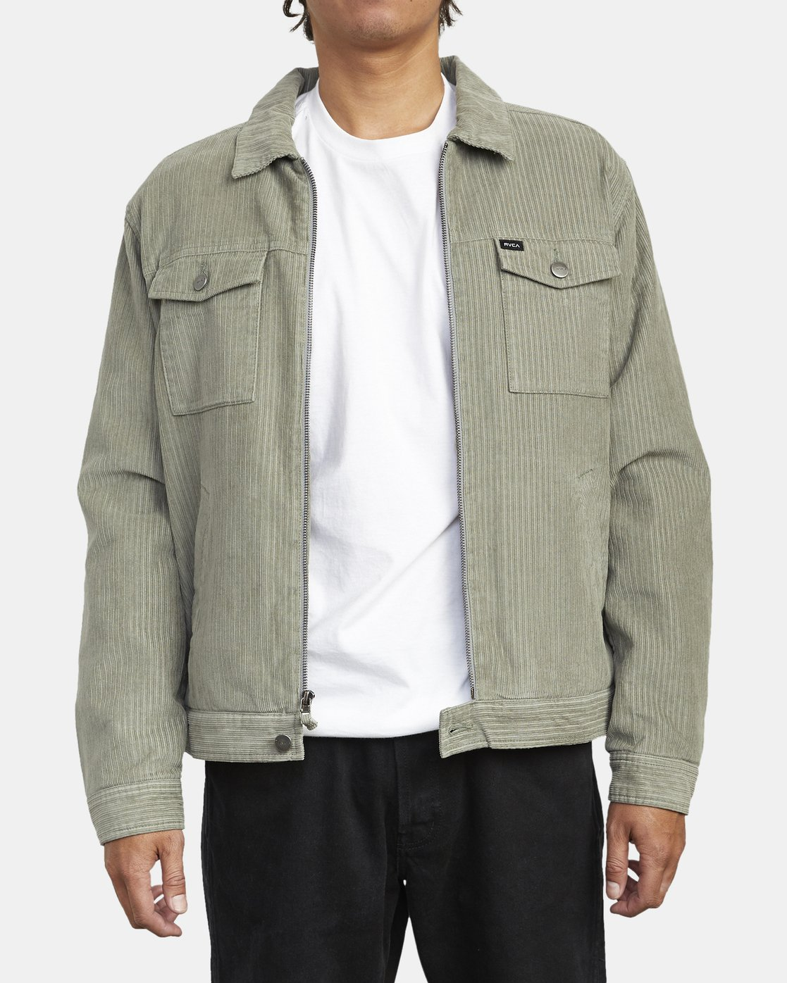 1 EASY TRUCKER II JACKET Green M7293REA RVCA