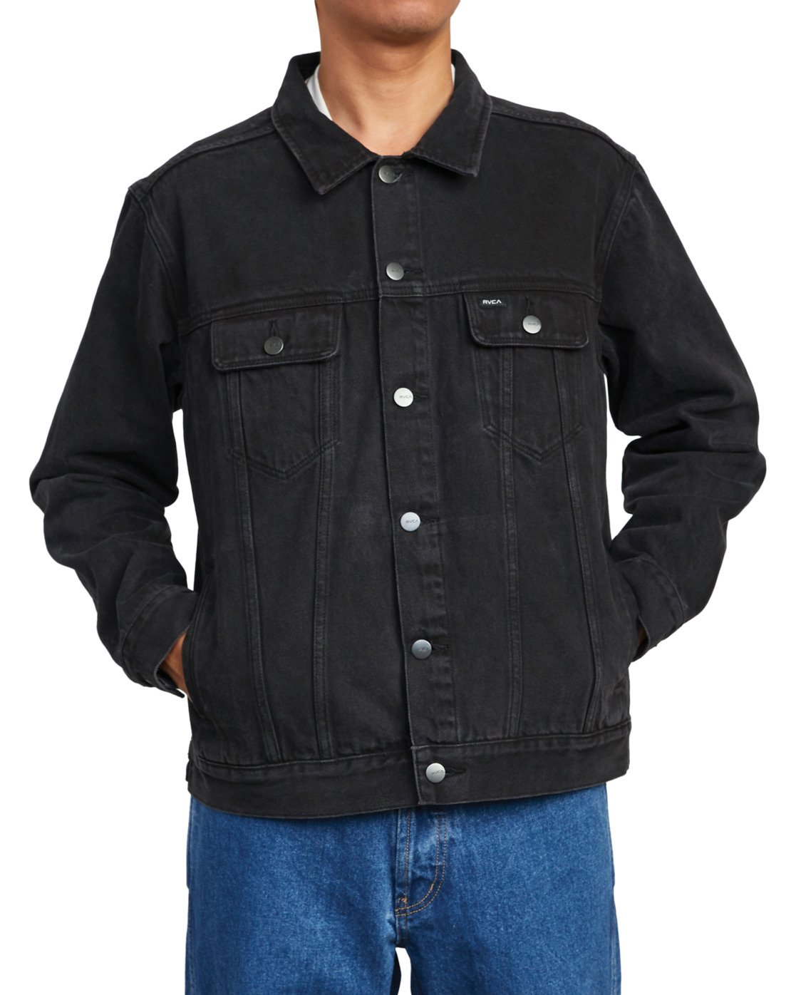 6 AMERICANA DENIM JACKET Black M7303RDJ RVCA