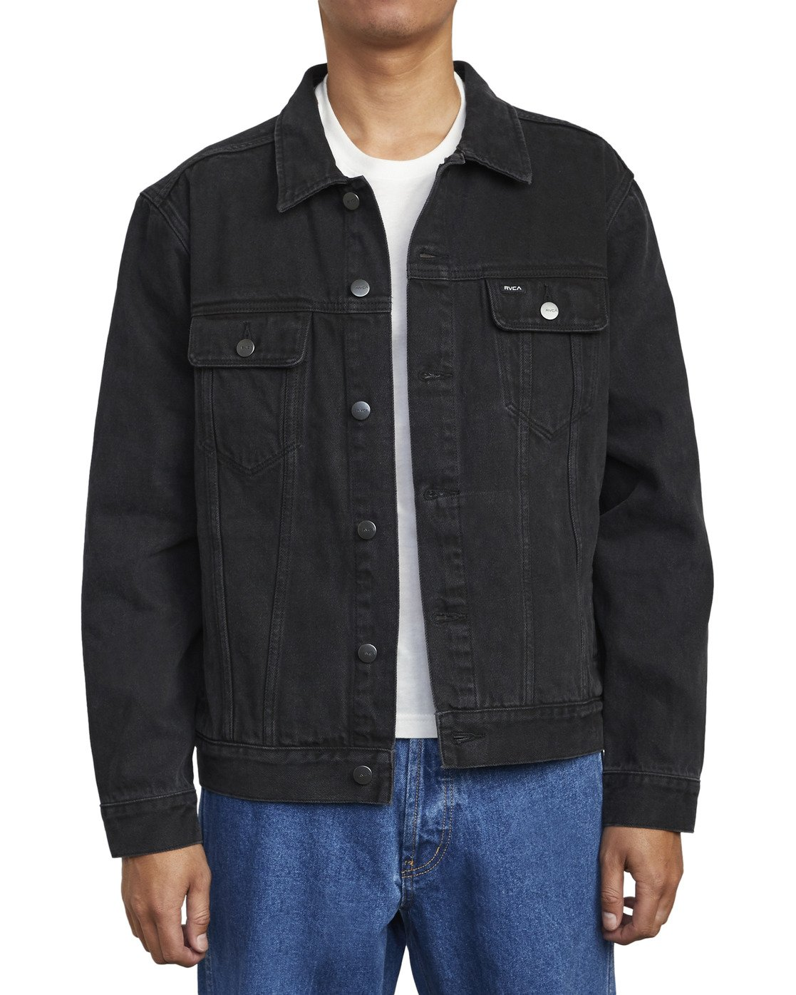 5 AMERICANA DENIM JACKET Black M7303RDJ RVCA