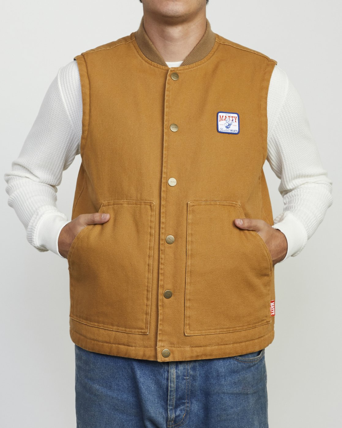 1 MATTY'S VEST Brown M733WRMV RVCA