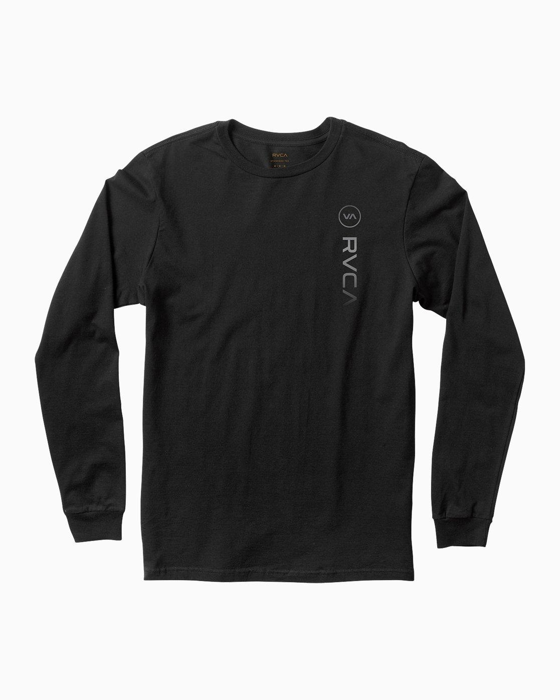 0 RVCA Sport Long Sleeve T-Shirt Black M800K00R RVCA
