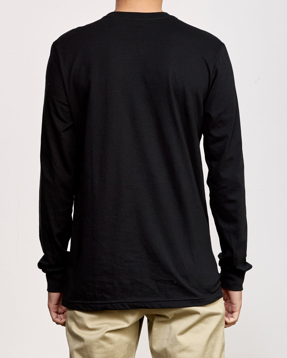3 RVCA Sport Long Sleeve T-Shirt Black M800K00R RVCA