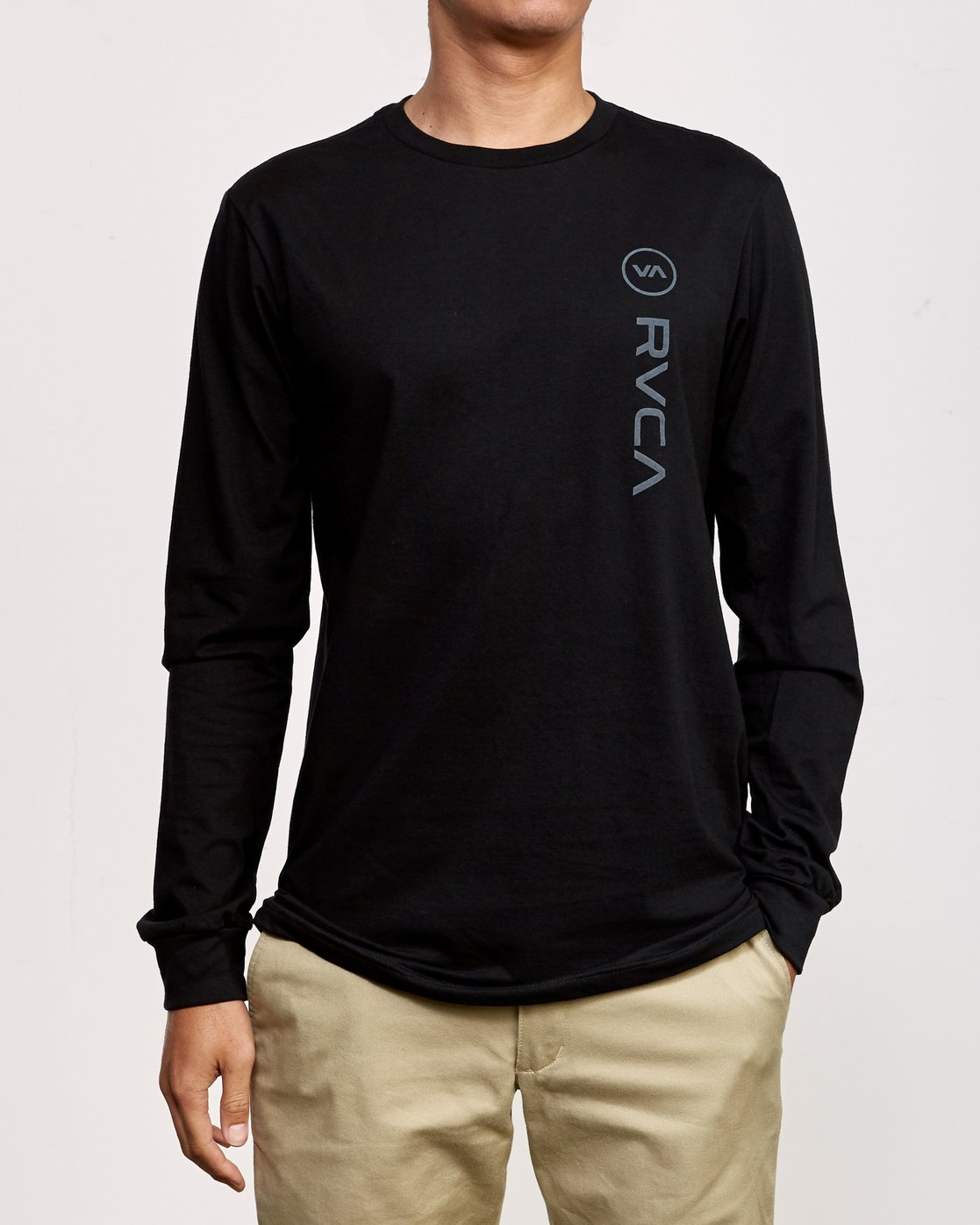 1 RVCA Sport Long Sleeve T-Shirt Black M800K00R RVCA