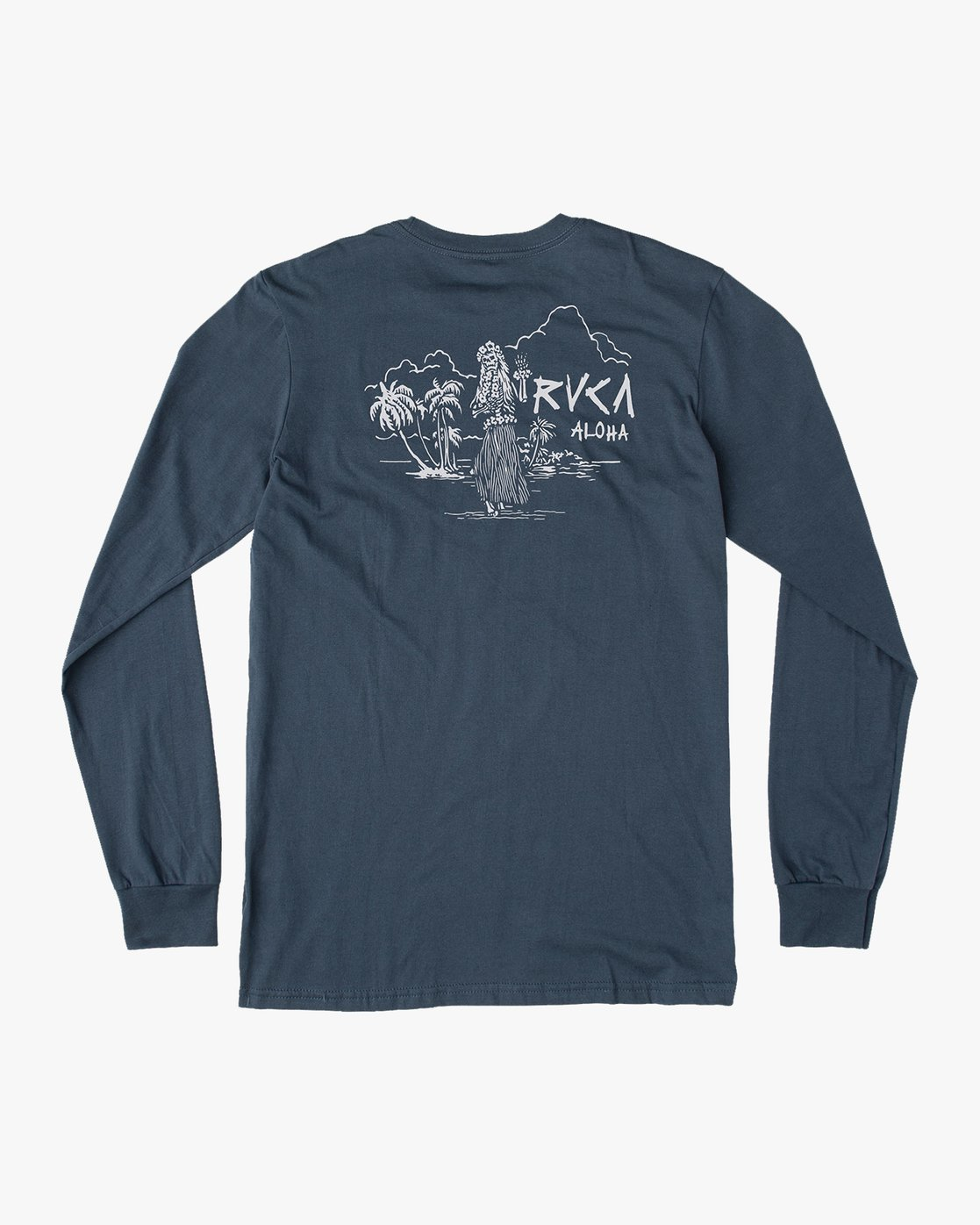 0 Hula Bones Long Sleeve TEE Brown M805HHBH RVCA