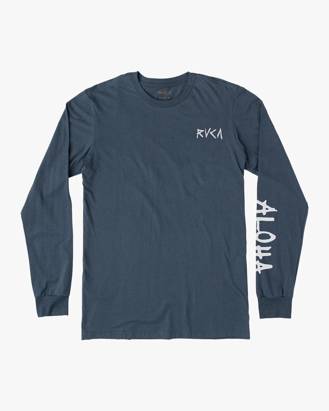 1 Hula Bones Long Sleeve TEE Brown M805HHBH RVCA