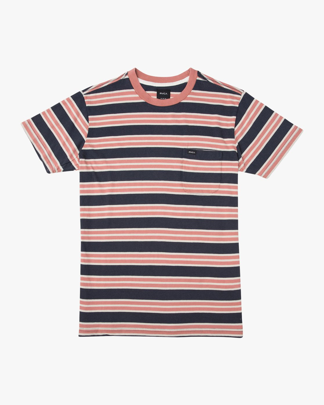0 Lucas Striped Knit T-Shirt  M901TRLS RVCA