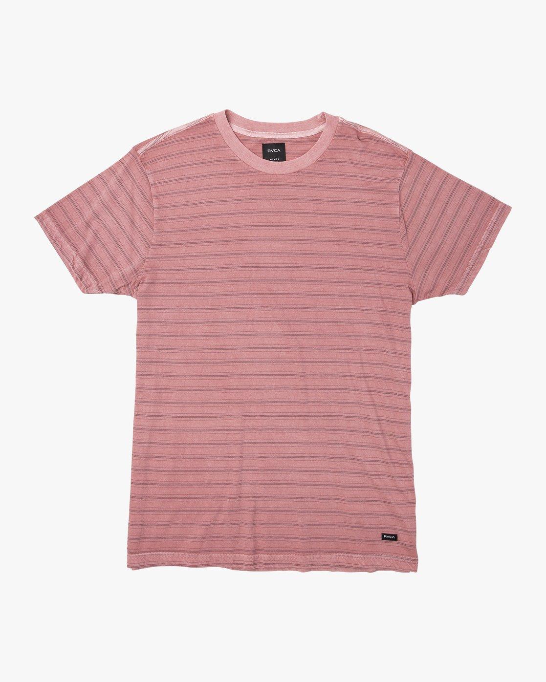 0 Saturation Stripe Knit T-Shirt Grey M901VRSS RVCA