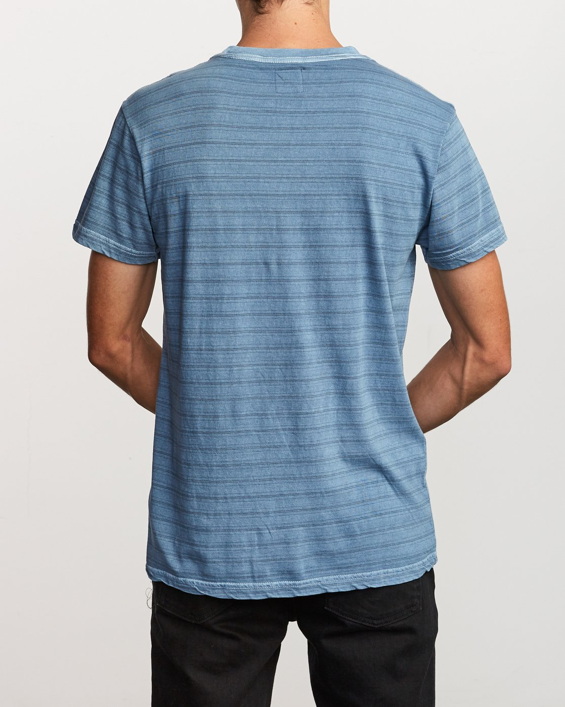 3 Saturation Stripe Knit T-Shirt Blue M901VRSS RVCA