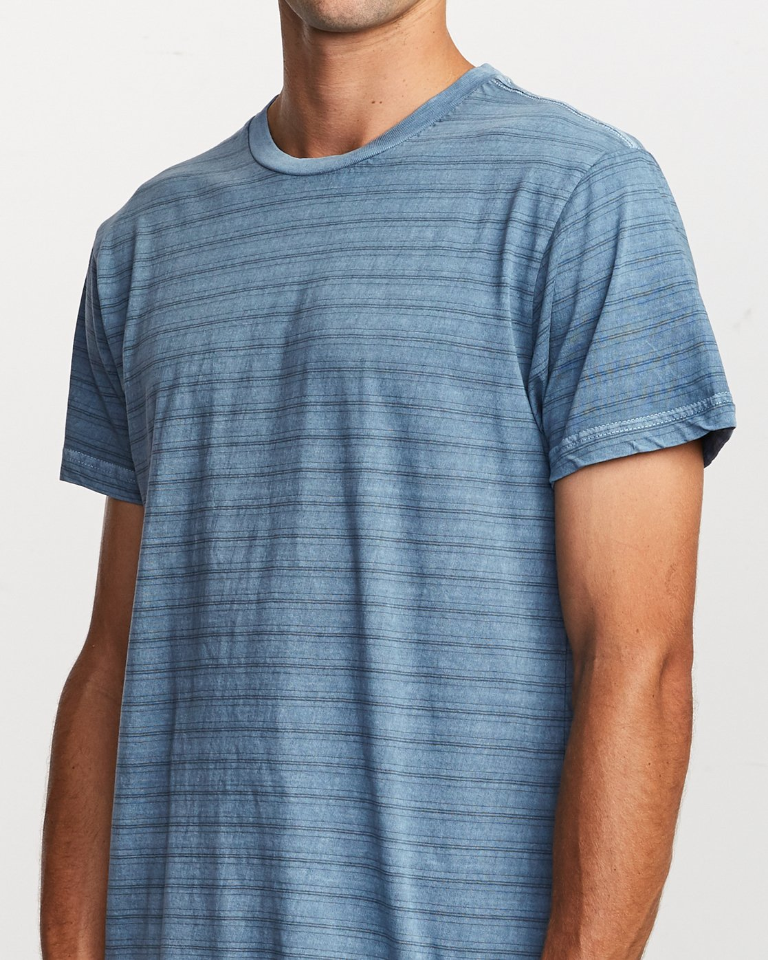 4 Saturation Stripe Knit T-Shirt Blue M901VRSS RVCA