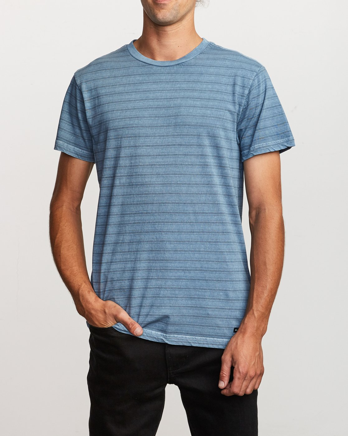 1 Saturation Stripe Knit T-Shirt Blue M901VRSS RVCA