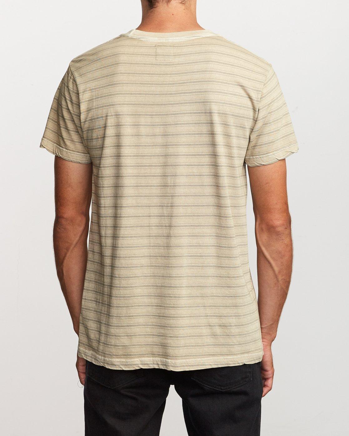 3 Saturation Stripe Knit T-Shirt Yellow M901VRSS RVCA