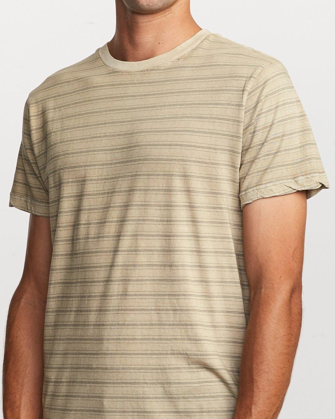 4 Saturation Stripe Knit T-Shirt Yellow M901VRSS RVCA