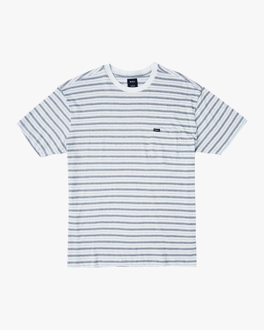 0 Shuffle Stripe Crew Knit Shirt Blue M902URSS RVCA