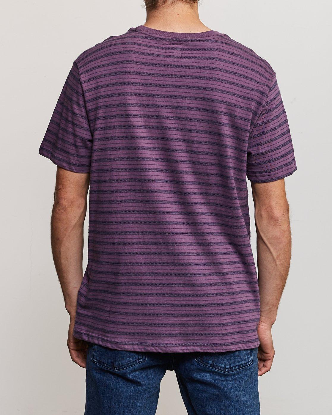 3 Shuffle Stripe Crew Knit Shirt Purple M902URSS RVCA