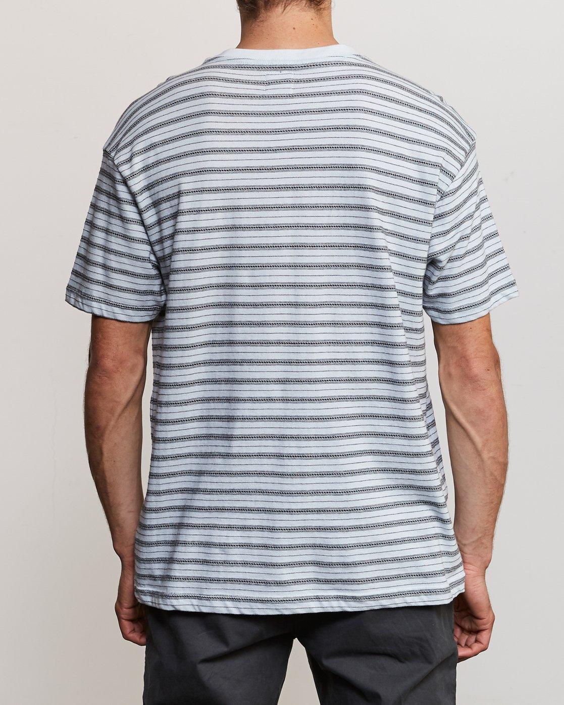 3 Shuffle Stripe Crew Knit Shirt Blue M902URSS RVCA