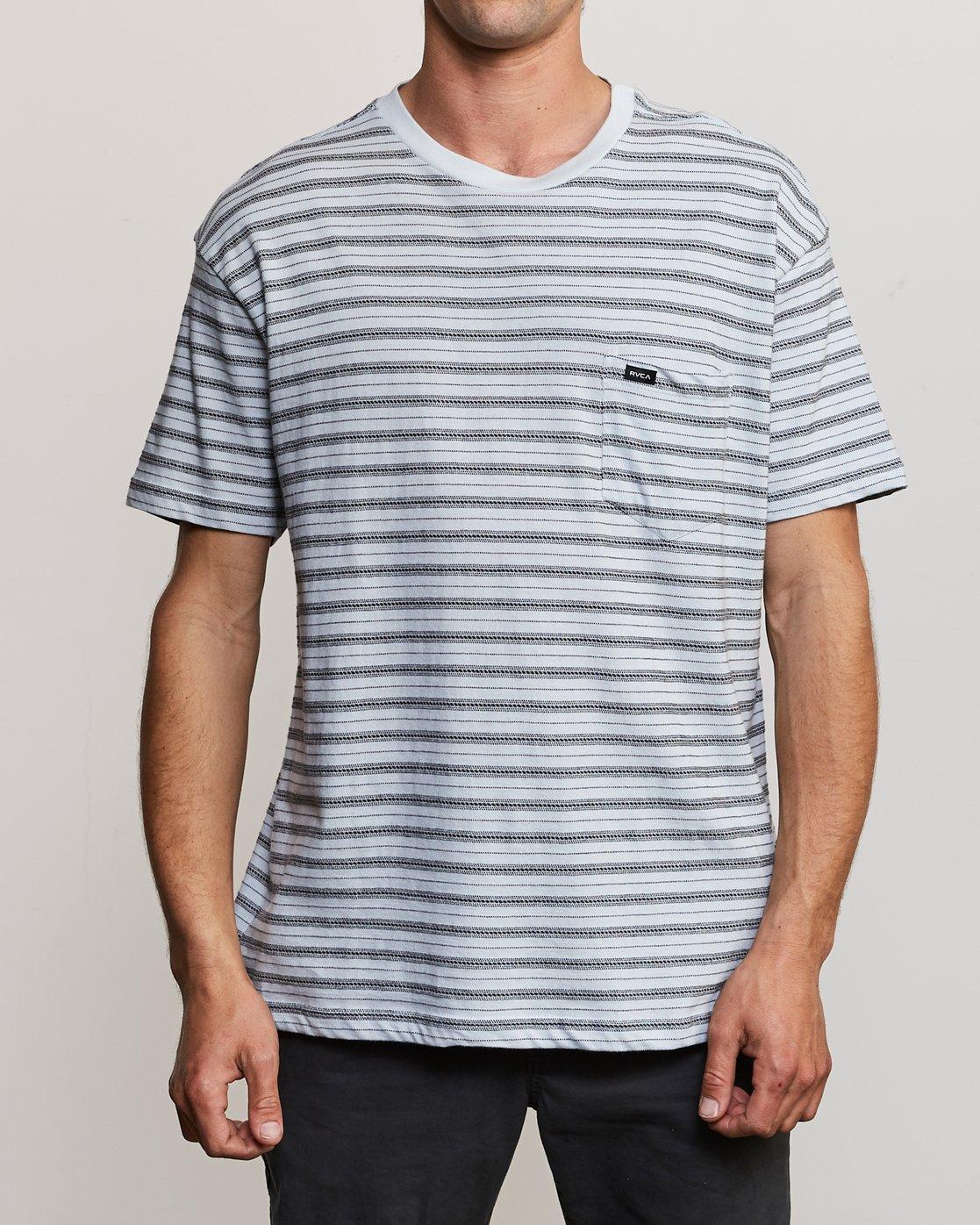 1 Shuffle Stripe Crew Knit Shirt Blue M902URSS RVCA