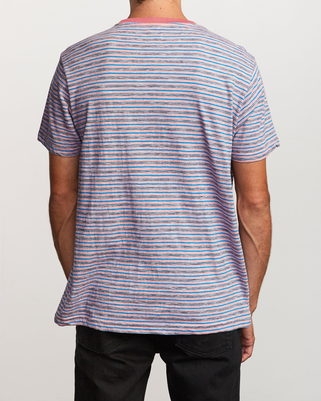 2 Foz Striped Crew Knit T-Shirt Grey M902VRFS RVCA