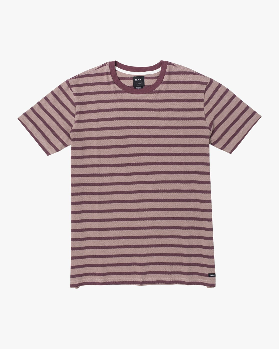 0 GREENWICH STRIPE SHORT SLEEVE KNIT TEE Red M9033RGS RVCA