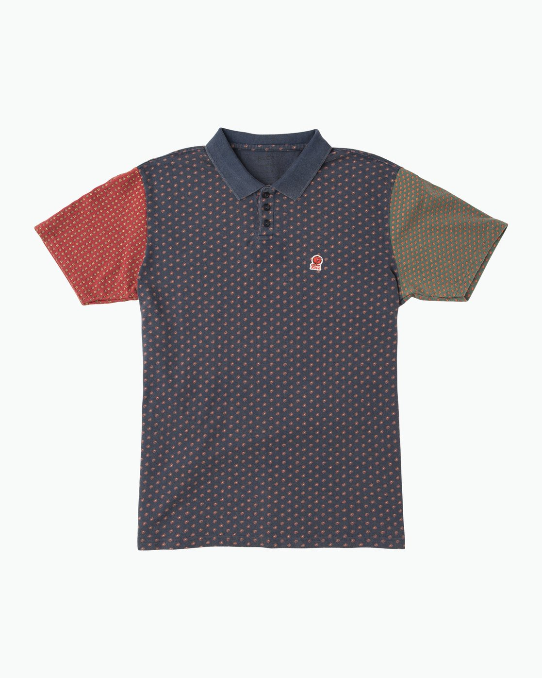 0 Remastered Printed Polo Shirt Blue M903QRRP RVCA